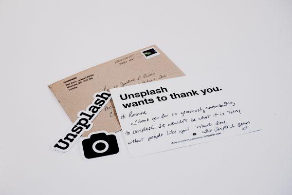 thank you note unsplash